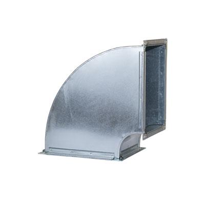 Tubulatura ventilatie desfumare, cot rectangular tubulatura desfumare