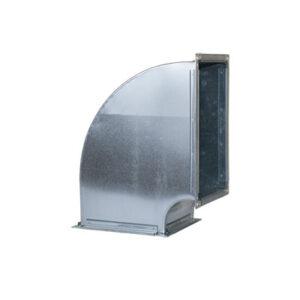 Tubulatura ventilatie desfumare, cot rectangular redus tubulatura desfumare